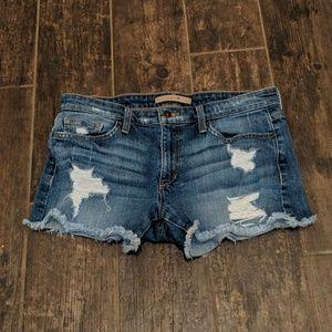 Joe's Distressed Jean Shorts